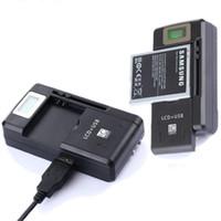ingrosso caricabatteria universale lcd-YIBOYUAN SS-8 SS-5 YB-108 Display LCD da 3,8 V Batteria universale portatile Da collegare a spina Caricatore da muro con porta USB