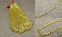 Wholesale vietnam gold chain necklace resale online - Plating Vietnam sand Gold Necklaces Hollow chains Safety without stimulation Imitation gold Necklaces chain Length cm mm