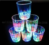 Wholesale Mini Decorative Cups - 2017 NEW New Arrive Mini LED Flashing Plastic Beverage Wine Cup Bar Parties Club Decorative Mug MYY