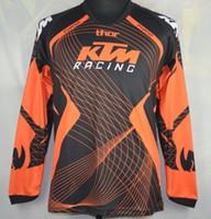 ingrosso bici di sporcizia di marca-Brand-Men KTM Dirt Bike MTB motocross racing jersey moto ciclismo t-shirt fuoristrada protezione jersey Camicia traspirante traspirante T-shirt