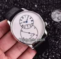 Wholesale Pin Collections - Super Clone Brand Jaquet Droz Grande Seconde Collection J006030240 White Dial Automatic Mens Watches Leather Strap High Quality Gent Watches
