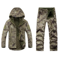 Wholesale Ruins Camouflage - Fall-TAD Shark Skin Soft shell Ruins Camouflage Warm Fleece Jacket Suit Winter Coat Jacket and Pants Outdoor Climbing
