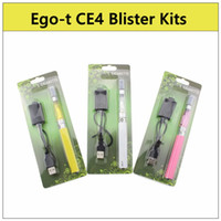 Wholesale Ego Ce4 Ce5 Blister Packs - 2016 eGo-t CE4 Blister pack kit - ecig kit ce4 1.6ml atomizer 650 900 1100mah ego-t ecig battery fit CE4 CE5 CE6 kits