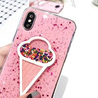 Wholesale Wholesale Ice Cream Packaging - New Ice Cream Pink Color High Quality TPU Soft Case For iPhone X 8 8plus 7 6s Case with Retail Package Free Shipping