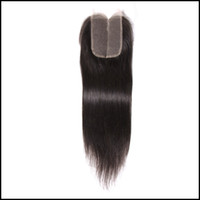 Оптовая цена 4 * 4 Прямая природа Цвет Кружева Frotal Closure Unprocessed Toupee Hand Made 10 '' To 20 '' Remy Human Hair Closure Weaves