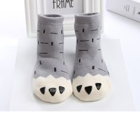 Wholesale Pure Bear - Autumn and winter 0-4 infant children Korean men and women baby socks thick pure cotton socks, terry socks bear stars A171064
