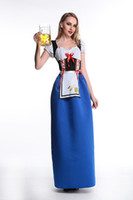 Wholesale Beer Maid Dress - Ladies Beer Maid Costume Wench German Heidi Oktoberfest Gretchen Fancy Dress s351