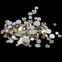 cristal rhinestone cristal chatons venda por atacado-Jonquil SS12-SS30 não Hotfix cristal strass Facetas Flatback Glue em strass Diamantes de vidro Chatons DIY Artesanato Vestuário Decoração