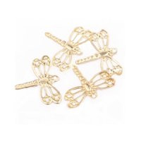 Wholesale Gold Dragonfly Charms - Gold Plated Dragonfly Pendulum Charm Pandant 100pcs lot 12x15mm For Jewelry DIY Necklace