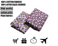 Wholesale Customised Bags - cotton fabrics vb Big flower cloth, purple aestheticism, wide range of USES, clothing, bags, dresses customised high quality fabric