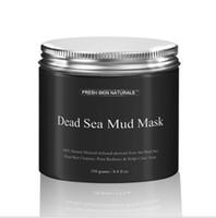 черная глубоко очищающая маска для лица оптовых-Бесплатная DHL Мертвого моря грязевая маска глубокой очистки увлажняющий акне порока черный Маска очистки осветления увлажняющий питательный поры лица очиститель