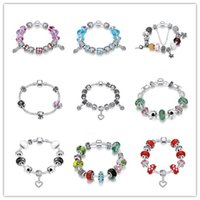 Wholesale Queen Tops - Mixed Hot Charm Bead Bracelet 925 sterling silver jewelry top quality classic queen style Europe Hot free shipping 9 pcs lot