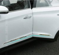 Wholesale Cheap Vinyl Paper - Stainless Steel Exterior Car Door Strips Sticker 4pcs set for Hyundai Tucson 2015 2016 refitting Cheap door paper