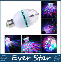Promoção Magic Ball RGB Full Color 3W E27 LED Bulb Cristal Auto Rotating Stage Efeito DJ Light Bulb Mini Laser Stage Luz
