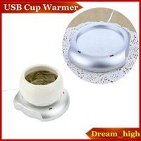 Wholesale Mug Heating Pad - Portable USB Power Supply Cup Mug Warmer Tea Coffee Drinks Milk Cup Warmer Heating Mat Pad Coaster DC 5V Home Office Use