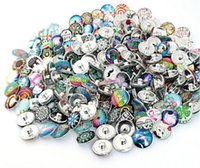 Wholesale Mixed Silver Jewerly - 100Pcs Mix Style Round Alloy 18mm Button NOOSA Ginger Snap Charms Jewelry Interchangeable Jewerly Charms Pendants Necklace 2016 Charms