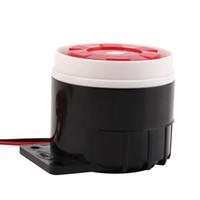 luz estroboscópica de alarma al por mayor-Sirena de alarma con cable Sirena de sonido Sistema de protección de seguridad en el hogar Sistema de luz intermitente 120dB DC 12V Nuevo