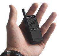 Wholesale mini radio walkie talkie - Mini FRS GMRS Walkie Talkie EasyTalk ET-M3 16 channel UHF 400-520MHz Two Way Ham Radio Transceiver for kids Girl Boy ( Black)