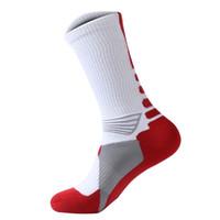 meias toweling mens venda por atacado-Atacado-2016 mens profissional de basquete elite meias moda engrossar toalha esportes ao ar livre atlético sport meias skate sox para homens
