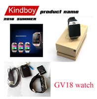 Wholesale Gsm Remote Controls - 2017 GV18 1.5 inch NFC Smart Watch With touch Screen 1.3MCamera Bluetooth SIM GSM Phone Call Waterproof for Android Phone DZ09 free DHL