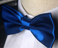 damla nakliye yay kravat toptan satış-Sıcak Satış Erkekler Yay Bağları Düz Ticaret Kravat Resmi Gizli Kafes Renkli Ilmek Yay Kravatlar Drop Shipping Polyester