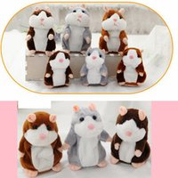 Wholesale Talking Animal Plush - Talking Hamster Talk Sound Record Repeat Hamster Stuffed Plush Animal Kids Child Toy Talking Hamster Plush Toys Christmas Gifts NEW SF119