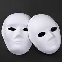 Wholesale Diy Unpainted - Wholesale-Unpainted Blank Face Masquerade Mask Women Men Cosplay Costume Accessories DIY Masks Decor