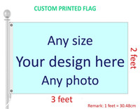 2x3 Custom Printed Flag Customized Any Size, Logo, Design and Photo Polyester Flags and Banners