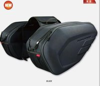 Wholesale Helmet Bags - komine SA212 motorcycle side bag helmet bags leather saddle bag racing motorcross tail bags luggage bag saddlebags motocross motorbike bags