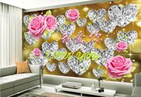 ingrosso romantiche foto di rosa-carta da parati personalizzata foto 3d Prestige Romance Romantic Rose Flower Rose murale carta da parati 3d