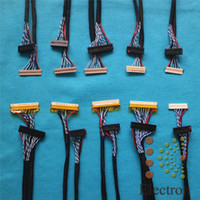 Wholesale Lvds Cable Lcd Led - Wholesale- 10pcs LCD screen cable Kit support Universal LVDS Cable for 12 inch -22 inch LED LCD driver board connected screen wire