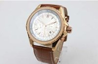 Wholesale Motor Times - Hot Sale Brand Automatic Watches For Men Analog White Face Cart Motors Watch Rose Gold Case And Skeleton With Calendar Brown Leather