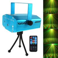dj mini denetleyici toptan satış-Sıcak Satış KıRMıZı Mini RG Oto / Ses Xmas DJ Disco Uzaktan Kumanda ile LED Lazer Sahne Işık Projektör