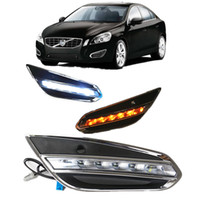Car styling LED DRL Luci diurne per Volvo S60 2009-2013 Daylight con fendinebbia Fendinebbia