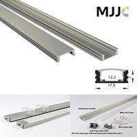 Wholesale Up Profile - MJJC-LP1707 1M led aluminum profile Transparent Milky Frosted PC Cover for LED Flexible Strip LED Rigid Strip up to 12mm width