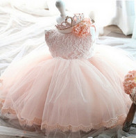 Wholesale Summer Clothes For Children Girls - Hug Me Baby Girls Lace Tutu Dresses 2016 Summer Children Sleeveless for Kids Clothing New Party Lace Cake Vest Sequins Dress BB-1034