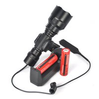 Wholesale Flashlight Neon Light - 2500Lm XM-T6 LED 501B Tactical Flashlight Torch Lamp Powerful Bright Neon Signs Torch Pressure Switch Mount Light Gun