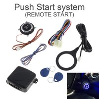 Wholesale push start car alarm - Universal 12V Auto RFID Car Alarm System and Warded lock Anti-theft Push Start System CAL_10G