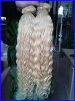 "Wholesale Blonde Brazilian Curly Hair Weaving - Hottest!!! #60 Platinum Blonde Brazilian Hair 100g pc Grade 6a Unprocessed Brazilian Curly Virgin Human Hair Weave 10""--30"""