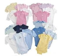 bebek tek parça pamuk takımları toptan satış-Toptan --- Bebek Tulum Vücut Suit Bebek Tek Parça Tulum Kısa Kollu Romper Onesies 100% Pamuk Bebek Giyim 0-24 m Ücretsiz Kargo!