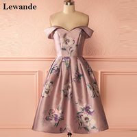 Elegance Sweetheart Blumendruck Debutante Homecoming Kleid für Junioren Lewande Off-Shoulder A Linie Blumen Muster Prom Abendkleid Satin