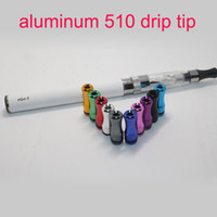 Wholesale Electronic Aluminum Cap - In stock short Metal drip tips for 510 electronic cigarette atomizer 510 Aluminum drip tip 510 mouthpiece cap