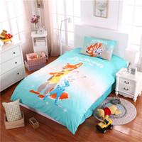 Wholesale Kids Single Bedding Sets - Zootopia Rabbit Judy bedding set cartoon kids super wings Stephen Curry quilt cover sheet pillowcase set cotton single  twin size children