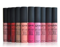 Wholesale nyx soft matte lip lipstick for sale - Group buy 2016 NYX Soft Matte Lip Cream Lipstick NYX Makeup Charming Long lasting Daily Party Brand Glossy Makeup Lipsticks Lip Gloss
