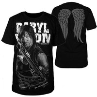 TOP Saldi The Walking Dead Daryl Dixon T-Shirt Cosplay Moda Top Casual S-4XL Black Round Collar