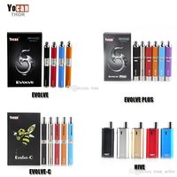 Wholesale Single Vaporizer - Authentic Yocan Evolve-C Evolve-D Evolve Plus Hive Starter Kit Wax Dry Herb Pen Vaporizer With 650 1100mAh Battery Oil Wax Atomizer