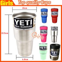 Wholesale Steel Camp Mug - 30 oz stainless steel cups Cooler Rambler Tumbler For Travel Camping Vehicle Beer Mug Tumblerful Bilayer Vacuum Insulated VS 20z 12oz cup