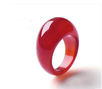 Wholesale White Jade Wedding Bands - Hot sales jade crystal ring & wedding rings ue Pretty Jewelry red jade rings agate ring wholesale finger ring