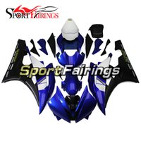 Wholesale Yamaha R6 Blue Fairing Kits - Fairings For Yamaha YZF600 YZF R6 06 07 YZF-R6 2006 2007 Injection ABS Motorcycle Fairing Kit Motorbike Cowling Blue Flat Black Full Covers