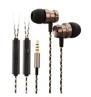 Wholesale Bass Line - Line control Professional In-Ear Earphone Metal Heavy Bass Sound Quality Music Earphone China's High-End Brand Headset fone de ouvido